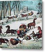 American Winter 1870 Metal Print