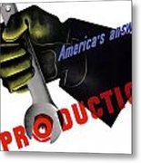 America's Answer -- Production  Metal Print