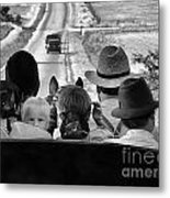 Amish Family Outing II Metal Print