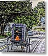 Amish Girl Metal Print