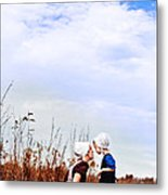 Amish Mother And Child Metal Print
