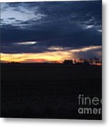 Amish Sunrise Metal Print