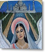 Amishi An Earth Angel Representing A Young Bride On Her Wedding Day Metal Print