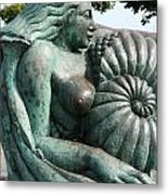 Ammonite Statue Metal Print