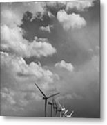 Amongst The Clouds Bw Metal Print