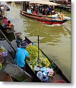 Ampawa Floating Market Metal Print