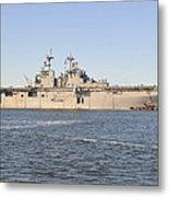 Amphibious Assault Ship Uss Wasp Metal Print