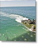 Amphibious Assault Vehicles Enter Metal Print