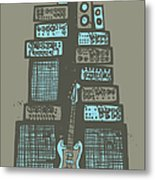 Ampliphones Metal Print by A Hornsby