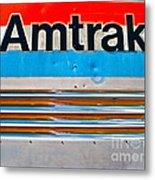 Amtrak Train Metal Print