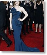 Amy Adams Wearing A Marchesa Gown Metal Print