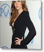 Amy Adams Wearing An Andrew Gn Dress Metal Print