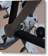 An A-10 Thunderbolt II Receives Fuel Metal Print