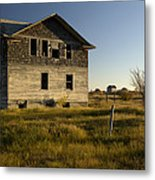 An Abandoned Hospital Stands Alone Metal Print
