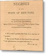 An Address To The Negros In The State Metal Print