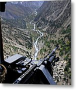 An Aerial Gunner Surveys Metal Print