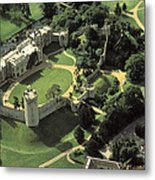 An Aerial View Of Warwick Castle Metal Print by Richard Nowitz