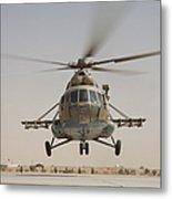 An Afghan Air Force Russian Mil Mi-17 Metal Print