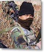 An Afghan Commando On Patrol Metal Print by Stocktrek Images