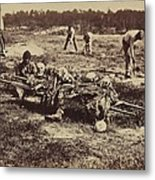 An African American Soldier Of A Burial Metal Print