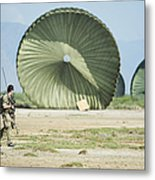 An Air Delivery Of Humanitarian Aid Metal Print