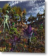 An Alien Being Surveys The Colorful Metal Print by Mark Stevenson