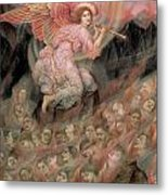 An Angel Piping To The Soulds In Hell Metal Print