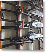 An Armory Of Pk Machine Guns Designed Metal Print
