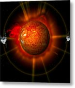 An Artists Concept Of The Stereo Metal Print by Stocktrek Images