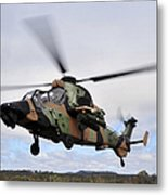 An Australian Army Tiger Helicopter Metal Print