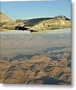 An Av-8b Harrier Conducts A Test Flight Metal Print