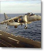 An Av-8b Harrier II Prepares To Land Metal Print by Stocktrek Images