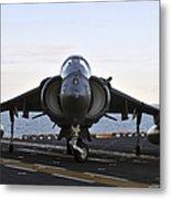 An Av-8b Harrier Maneuvers Metal Print
