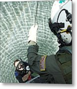 An Aviation Rescue Swimmer Instructor Metal Print
