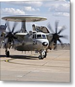 An E-2c Hawkeye On The Runway At Cannon Metal Print