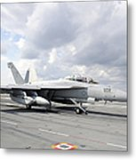 An Ea-18g Growler Takes Off From Uss Metal Print