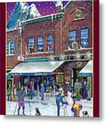 An Early Snow For Cafe Monte Alto Metal Print