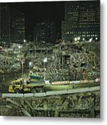 An Elevated View Of Ground Zeros Metal Print