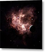 An Emission Nebula Is Viewed From Neaby Metal Print