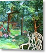 An English Garden Metal Print