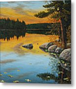 An Evening Glow Metal Print
