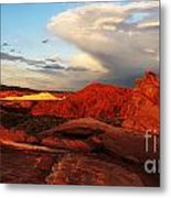 An Evening In The Valley Of Fire Metal Print