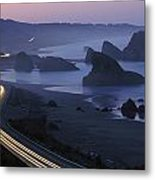 An Evening View Of Highway 101 South Metal Print