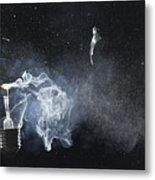 An Exploded Light Bulb Metal Print