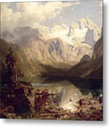 An Extensive Alpine Lake Landscape Metal Print
