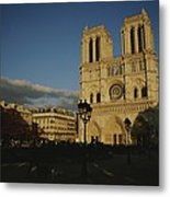 An Exterior View Of Notre Dame Metal Print