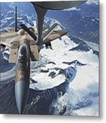 An F-15c Eagle Aircraft Sits Metal Print by Stocktrek Images