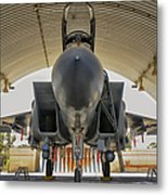 An F-15i Raam Parked In The Hangar Metal Print