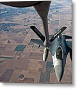 An F-16 Fighting Falcon Moves Metal Print