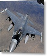 An F-16 Fighting Falcon Returns Metal Print